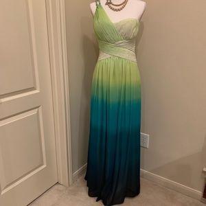 Calvin Klein Light Green to Dark Green Dress